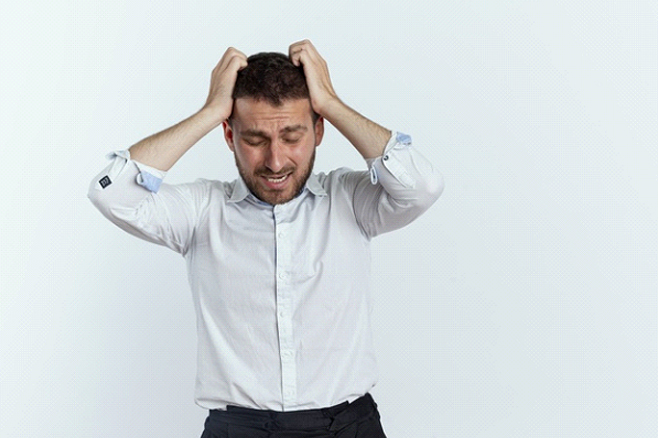 An employee experiencing burnout